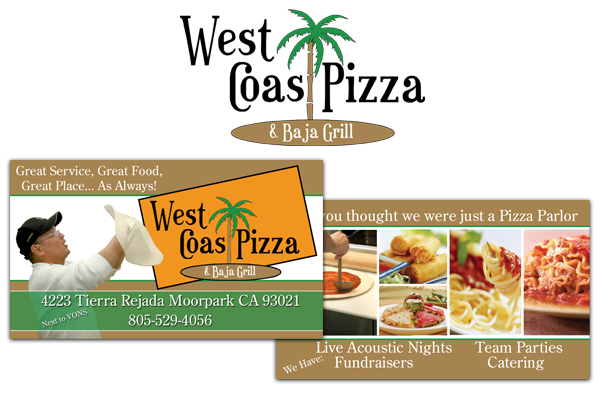 West Coast Pizza and Baja Grill Identity Design